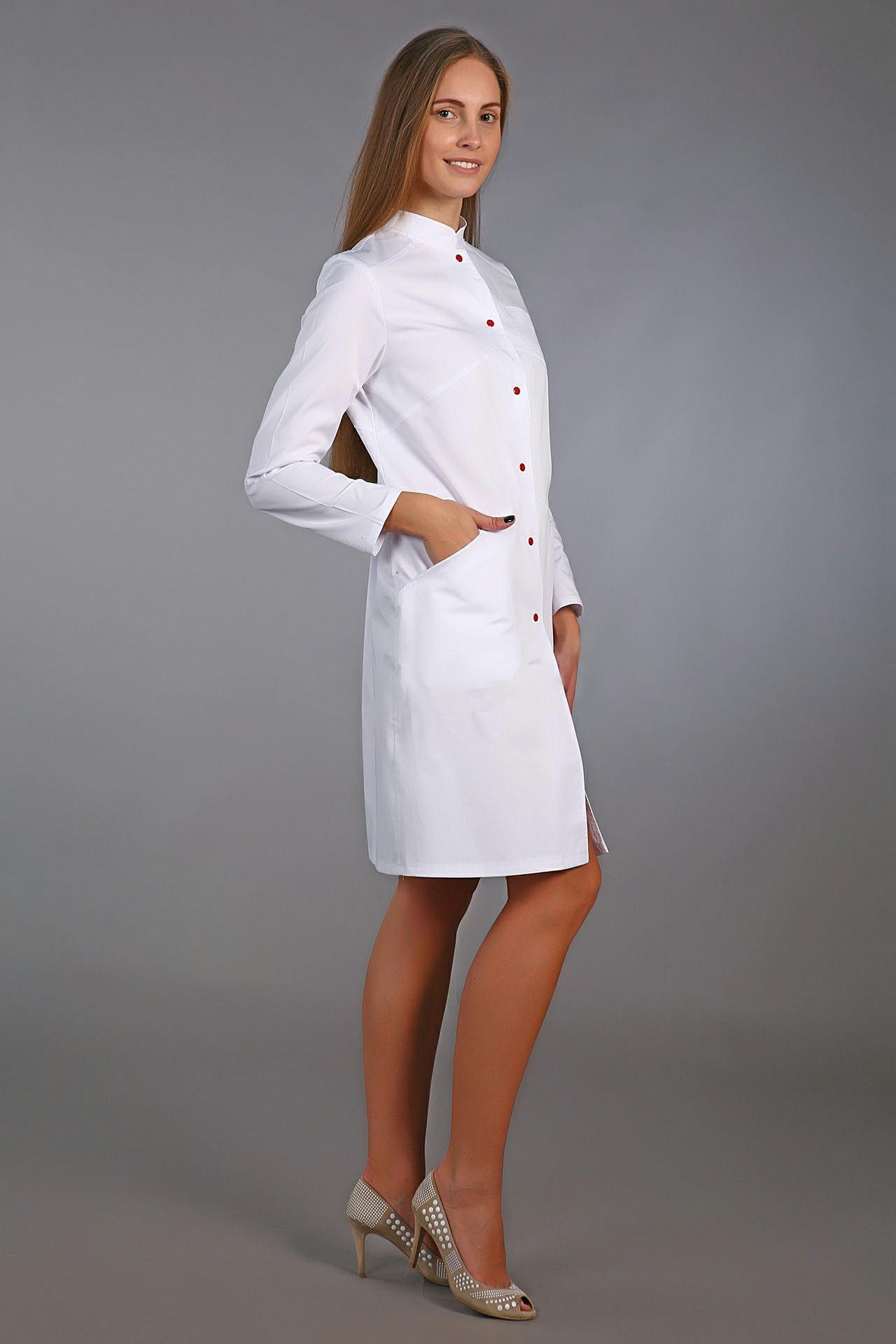 Медицинский халат с длинным рукавом