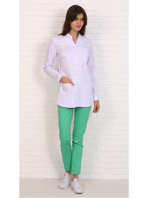 медицинская блуза с длинным рукавом